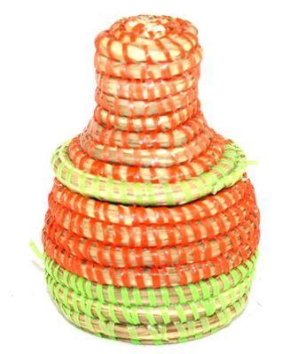 boîte bijoux en paille tressée 1717-A
