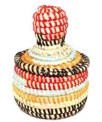 boîte bijoux en paille tressée 1718-A