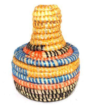 boîte bijoux en paille tressée 1722-A