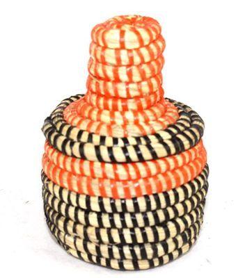 boîte bijoux en paille tressée 1725-A