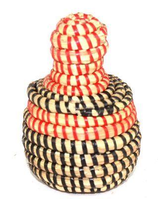 boîte bijoux en paille tressée 1727-A