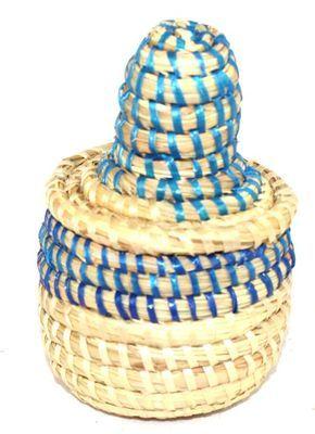 boîte bijoux en paille tressée 1738-A