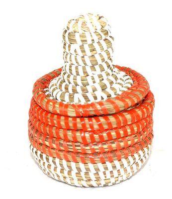 boîte bijoux en paille tressée 1742-A
