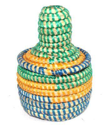 boîte bijoux en paille tressée 1743-A
