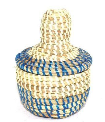 boîte bijoux en paille tressée 3985-BX-50