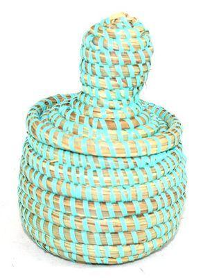 boîte bijoux en paille tressée 3997-BX-62