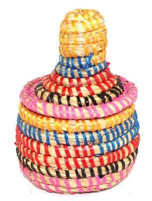 boîte bijoux en paille tressée 1751-A