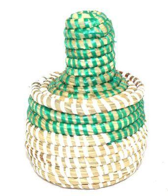 boîte bijoux en paille tressée 1754-A