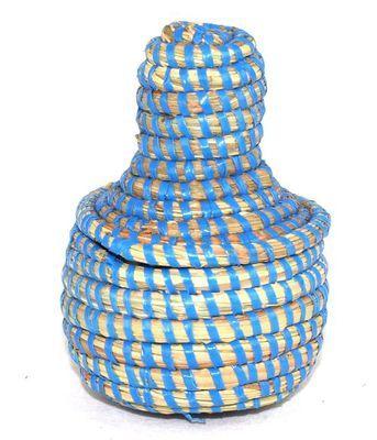 boîte bijoux en paille tressée 3993-BX-58