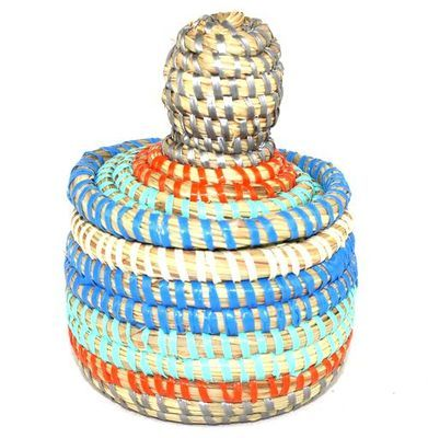 boîte bijoux en paille tressée 3987-BX-52