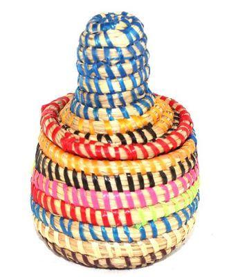 boîte bijoux en paille tressée 1758-A