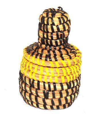 boîte bijoux en paille tressée 4023-BX-73