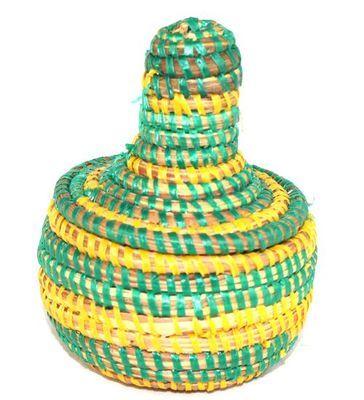 boîte bijoux en paille tressée 4002-BX-67