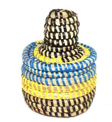 boîte bijoux en paille tressée 1762-A