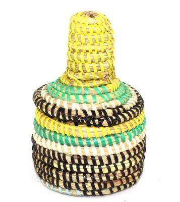 boîte bijoux en paille tressée 1763-A