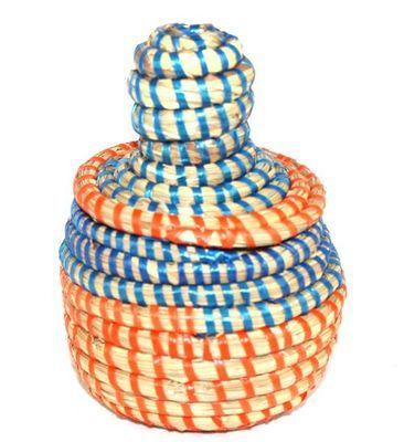 boîte bijoux en paille tressée 3995-BX-60