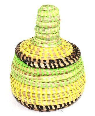 boîte bijoux en paille tressée 1765-A