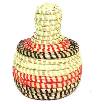boîte bijoux en paille tressée 1766-A