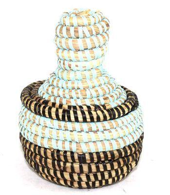boîte bijoux en paille tressée 3989-BX-54