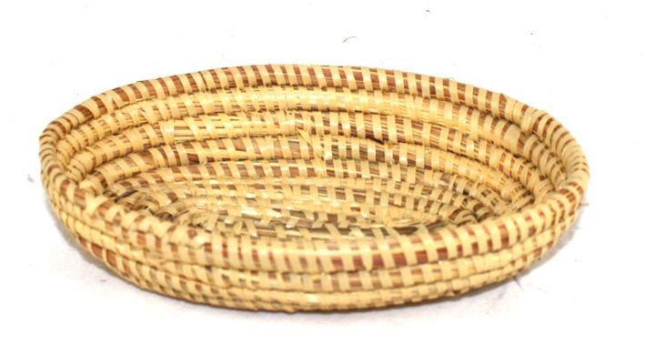 corbeille en paille tressée 1584-B