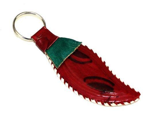 Porte clé artisanal en cuir
