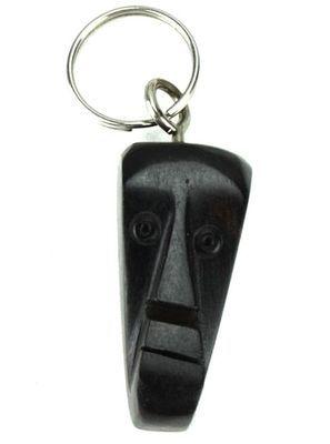 Porte clé en bois ébène motif visage