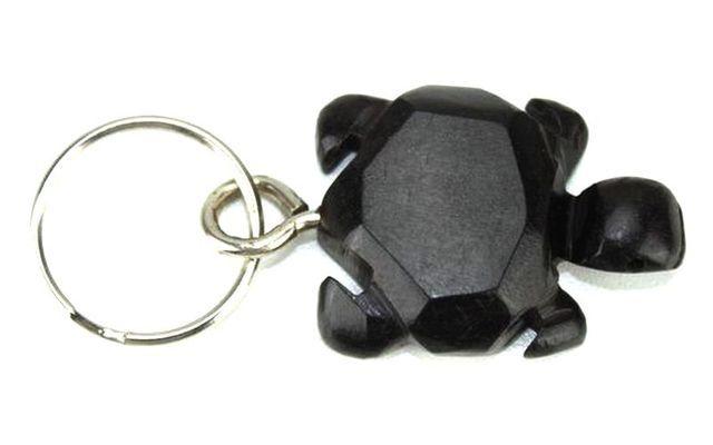 Porte clé en bois ébène motif tortue