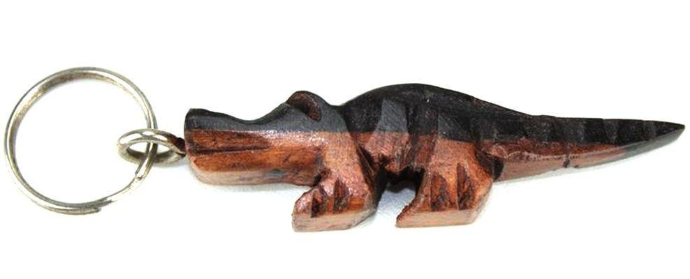 Porte clé en bois ébène motif crocodile