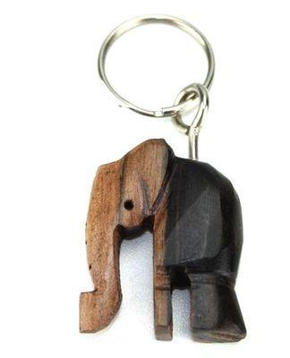 Porte clé en bois ébène motif éléphant