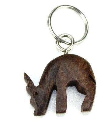 Porte clé en bois ébène motif antilope