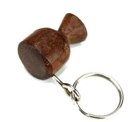 Porte clé en bois ébène motif tamtam